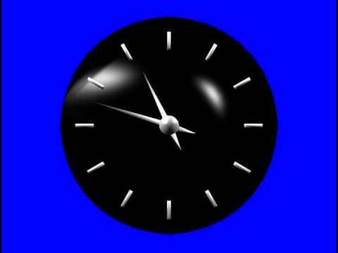 Часы футаж для видеомонтажа хромакей