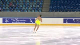 ISU 2014 Jr Grand Prix Dresden Ladies Short Program Regina Andrea RODRIGUEZ LEAL MEX