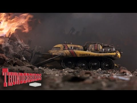 Virgil Uses Firefly To Dislodge The Rubble - Thunderbirds