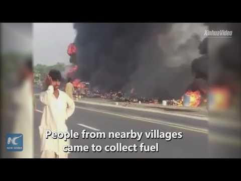 Over 143 killed in Pakistan oil tanker fire