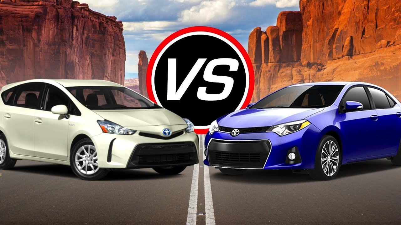 2016 toyota prius v vs 2016 toyota corolla eco spec comparison youtube. Black Bedroom Furniture Sets. Home Design Ideas