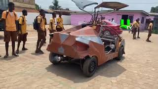Meet Odartey, the 18-year-old boy who made his own car