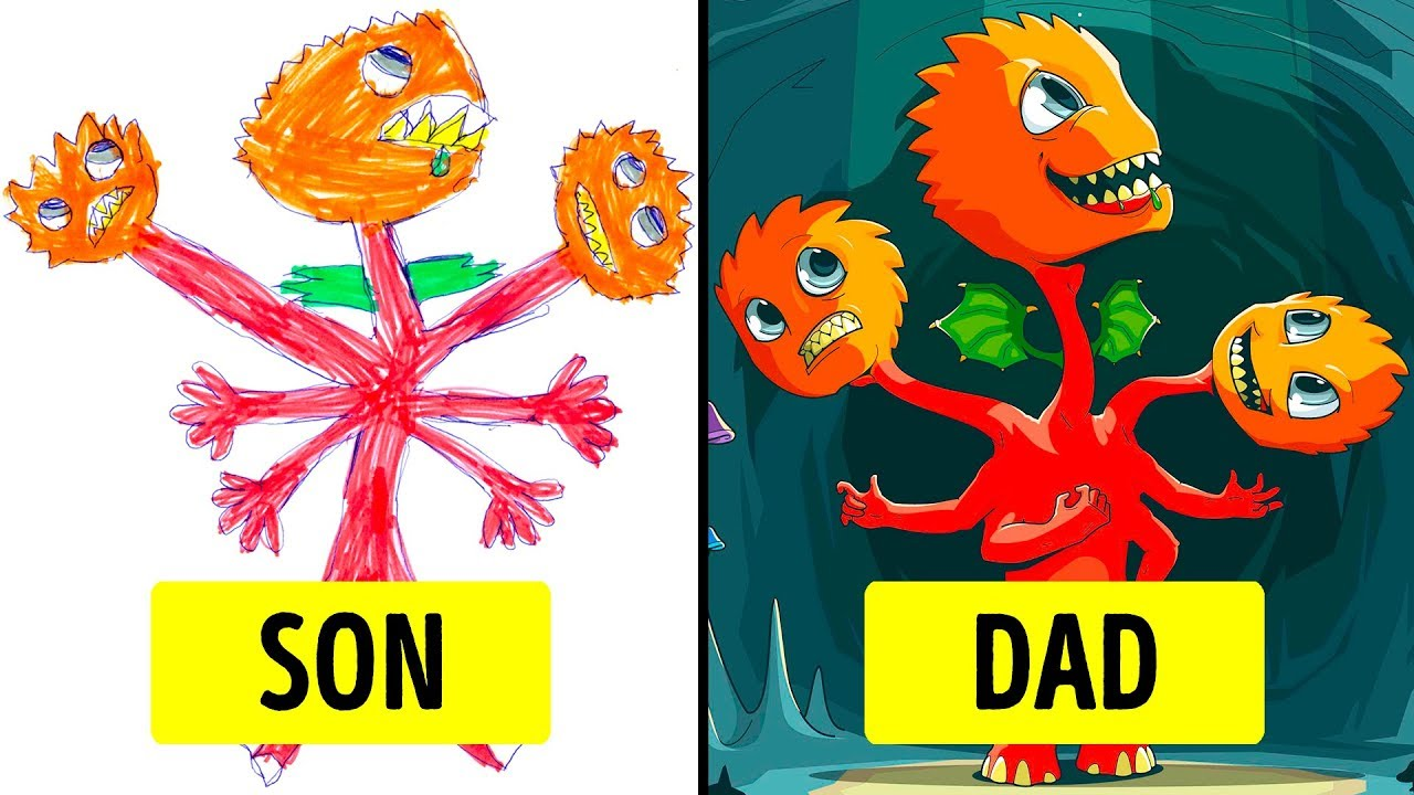 Parents Turned Their Kids Drawing Into Masterpieces Youtube