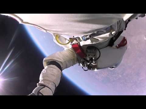 Amazing video ofFelix Baumgartnerperforming the longest freefall in human history, in partnership withRed Bull.Joe Kittinger, Jr.was on the live audio feed with Felix.