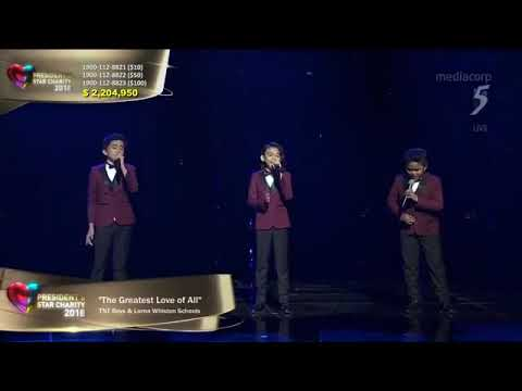 """TNT Boys perform Whitney Houston's """"The Greatest Love"""" at President's Star Charity in Singapore"""