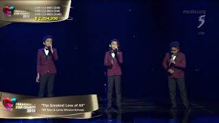"""TNT Boys performs Whitney Houston's """"The Greatest Love"""" at President's Star Charity in Singapore"""
