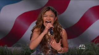 "Angelica Hale performing ""Get on your Feet"" at A Capitol Fourth on PBS, July 4, 2019"