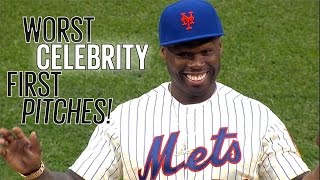 10 Worst Celebrity MLB First Pitches!