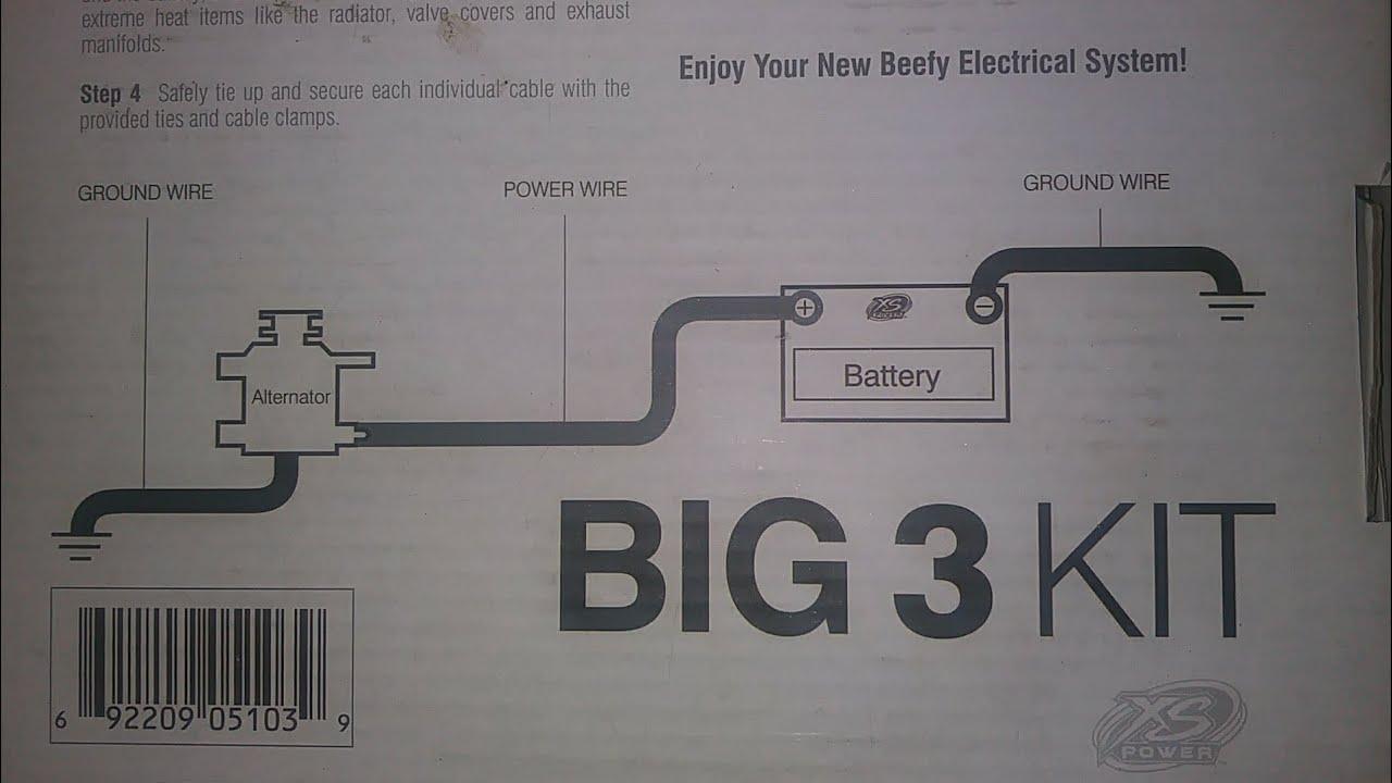how to install big 3 upgrade w/diagram