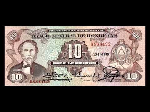 All Honduran Lempira Banknotes - 1974 to 1989 Issues