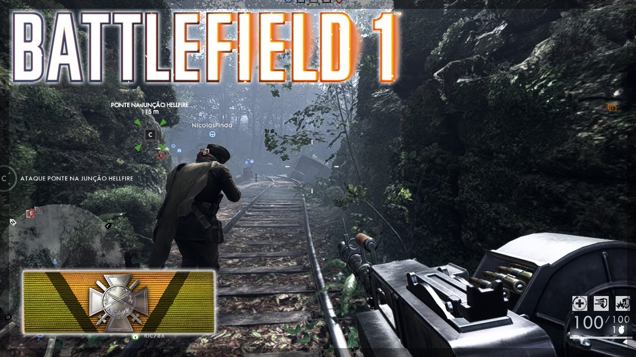 Battlefield 1 Support Gameplay Multiplayer (immersive Asmr)