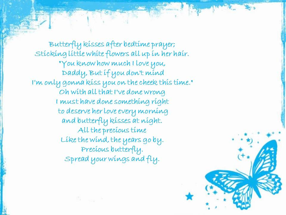 butterfly kisses (with lyrics) - YouTube