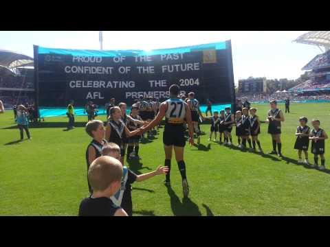 Port Adelaide team entrance - Round 4, 2014