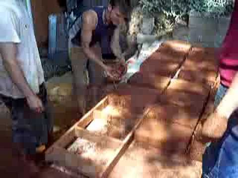 Adobe brick making with Meka