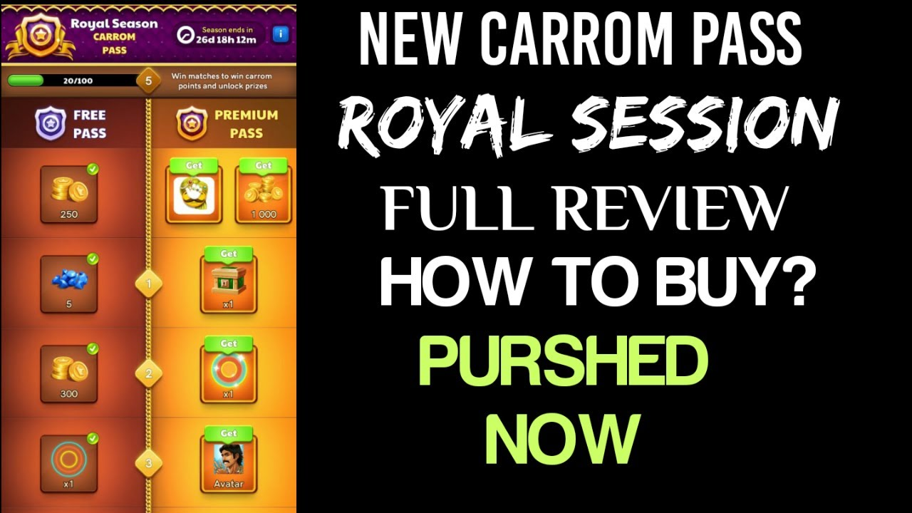 Carrom Disc Poll New Carrom Pass || Royal Sesoin Full Review || New Update || How To buy?