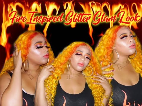 Fire Inspired Glitter Glam Look thumbnail