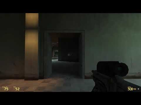 Half-Life 2 Beta --- Vert_04 Combine Elites vs Gordon