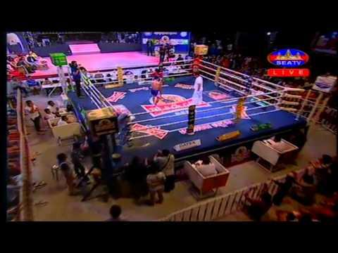 Khmer Thai Boxing 2015   Hun Chhun Heng Vs Sen Ta Non (thai)   SEATV Boxing 05 July 2015