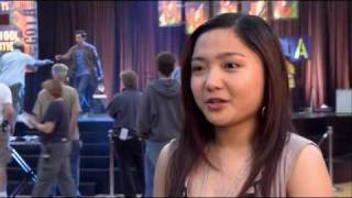 "Charice on the set of ""Alvin and The Chipmunks The Squeakquel"""