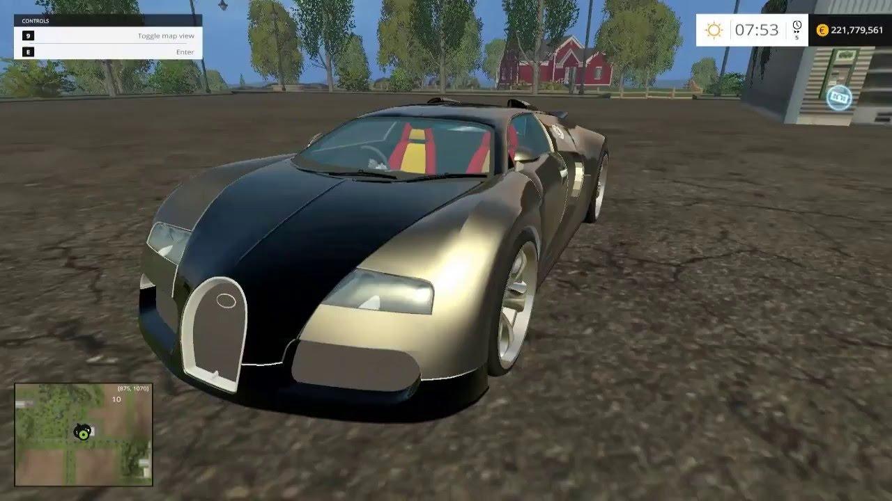 farming simulator 2015 bugatti veyron mods 190 km h youtube. Black Bedroom Furniture Sets. Home Design Ideas