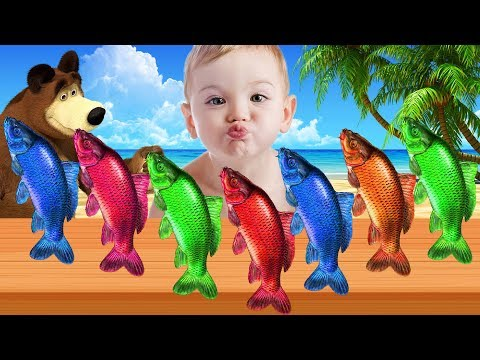 Learn Colors With Fish Color Jump Into The Bear For Kids Toddler Babies