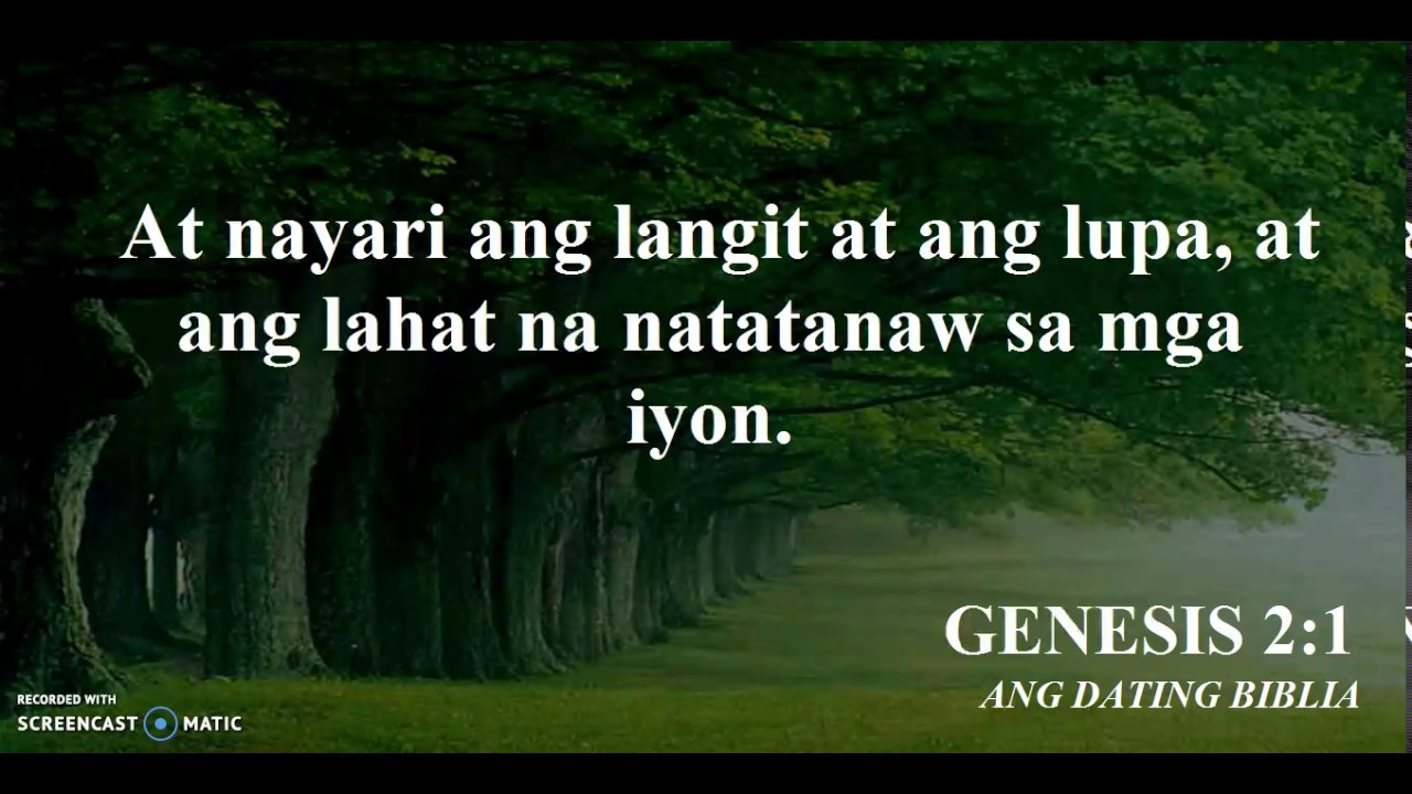 Bible Reading Genesis Kapitulo 12 Tagalog Youtube