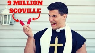 Bodybuilder VS The World's HOTTEST Lollipop Challenge *9 MILLION SCOVILLE*   Crazy Toe of Satan Fail