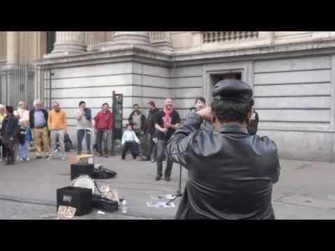 Reggae busker (street performance)