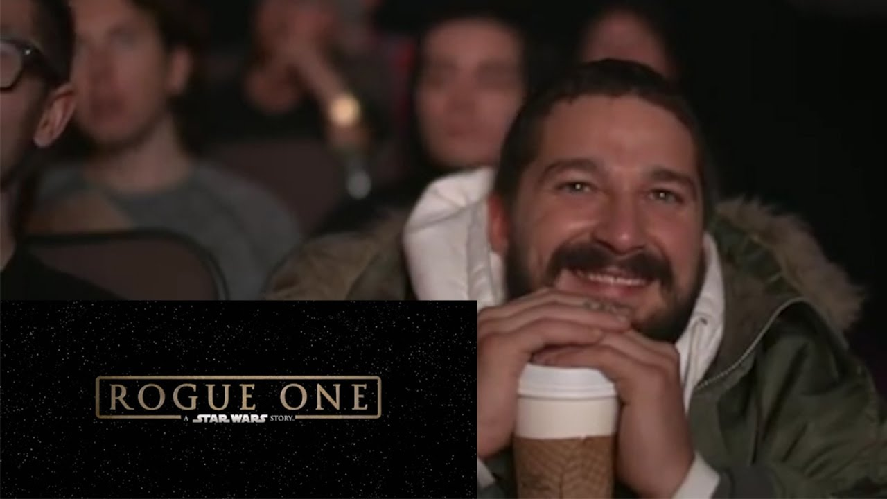 maxresdefault shia labeouf reacts to rogue one a star wars story trailer youtube