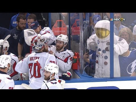 Tampa's astronaut tries to engage Holtby