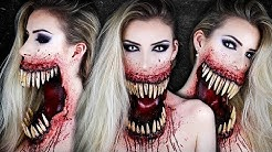 Giant Mouth Monster HALLOWEEN SFX Makeup Tutorial | Maquillage Monstre | Simple Symphony ♡