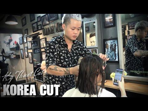 Bài Cắt I Tóc Ngắn Uốn Cụp I Mái Dài Layer Hàn Quốc I Tuấn Kọt Hairdressing