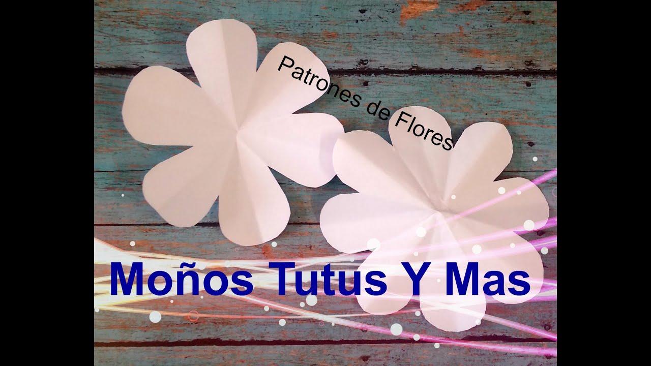Patrones De Flores Paso A Paso Flower Template Tutorial Diy How To Pap Video 47