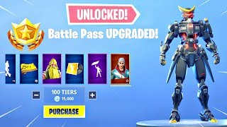 BUYING ALL 100 TIERS! Season 9 Battle Pass ALL ITEMS UNLOCKED! - Fortnite Battle Royale