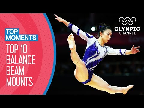 Top 10 Olympic Balance Beam Mounts | Top Moments