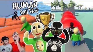 Final del Mas Fuerte de Mundo de Plastilina | Aventura en Human Fall Flat | Juegos Karim Juega