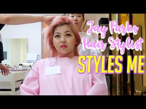 Jay Parks Hair Stylist Styles Me + SENDS HIM A VIDEO MESSAGE!