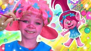 Poppy Face Paint | Trolls | WigglePop