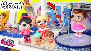 LOL Surprise Dolls Lil Sisters in Playmobil Cruise Ship
