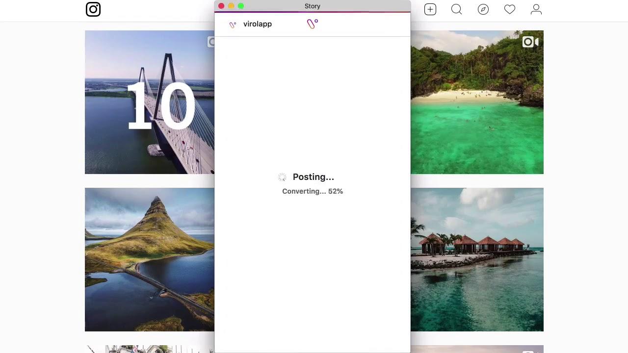 Cara Repost Instagram Story Dari Komputer - YouTube