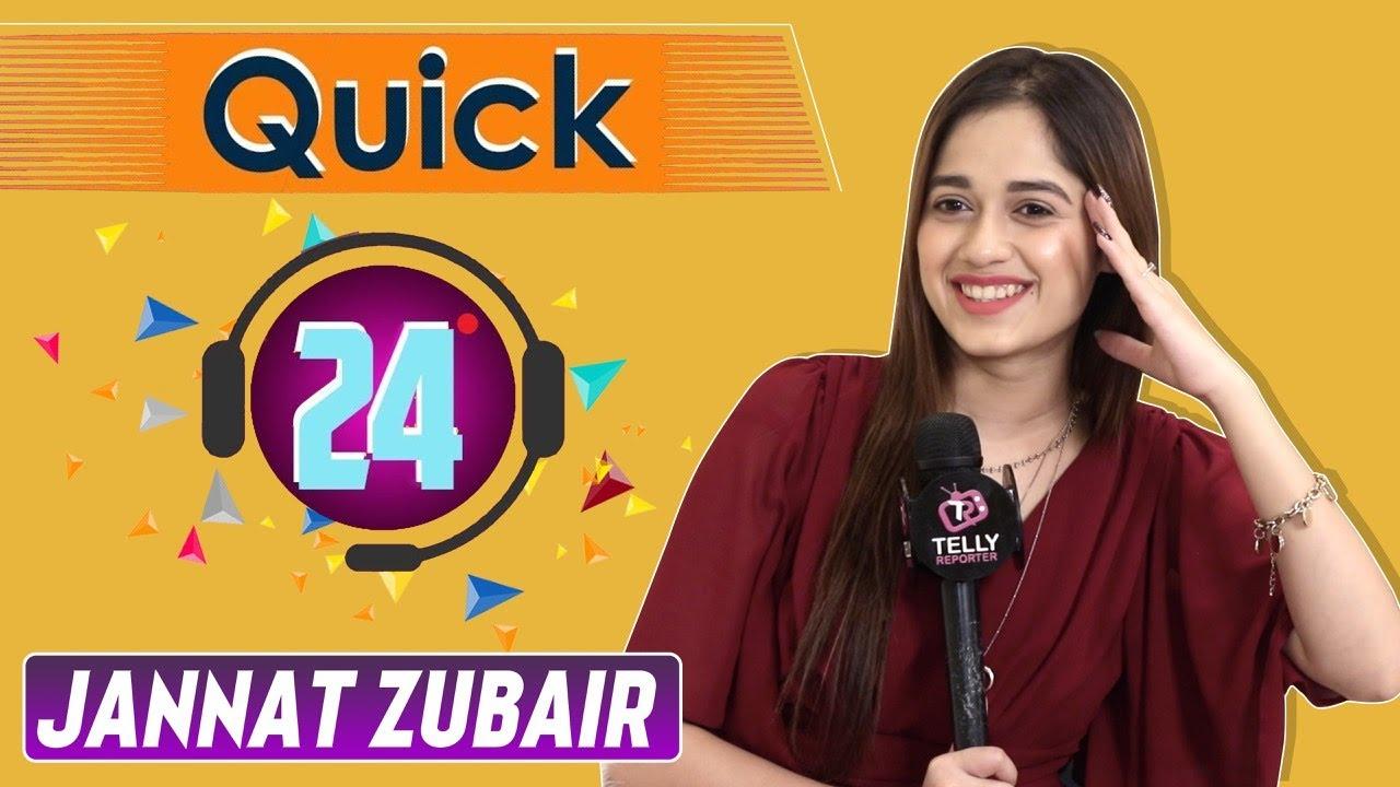 Download Quick 24 With Jannat Zubair Rahmani | Telly Reporter Exclusive |