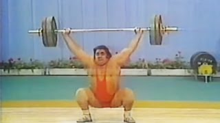 Vasily Alekseyev — 180 kg Snatch (1978 European Weightlifting Championships).