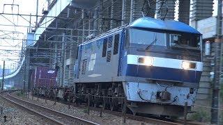 【4K】JR山陽本線 EF210-5号機牽引 貨物列車