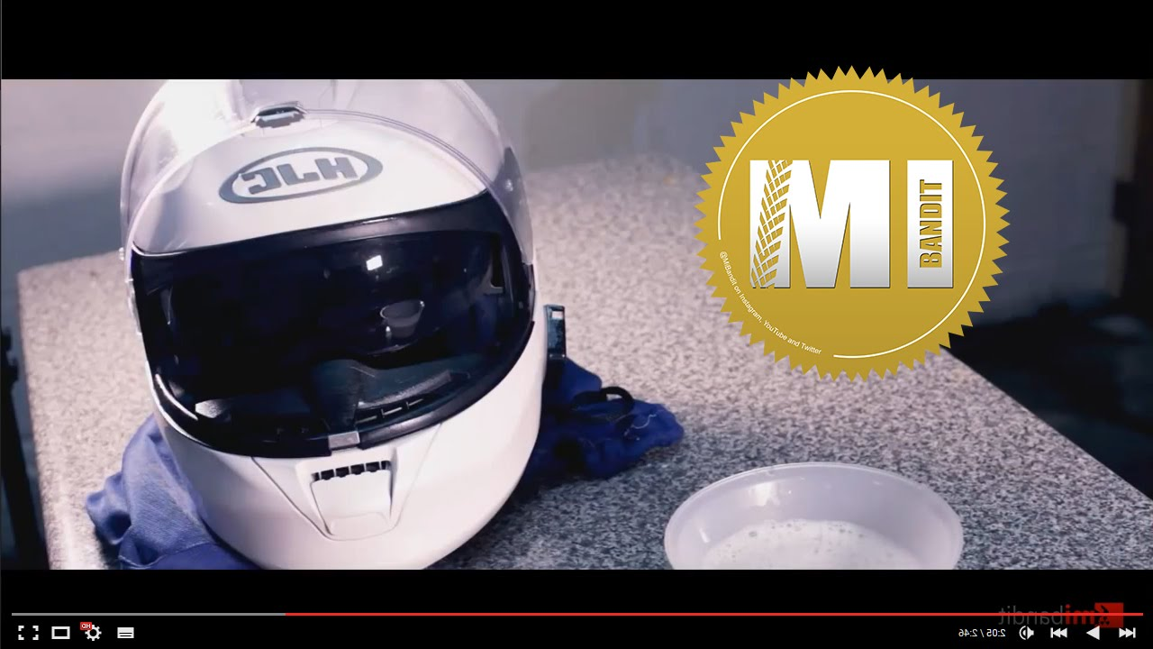 how to clean the outside of a motorcycle helmet