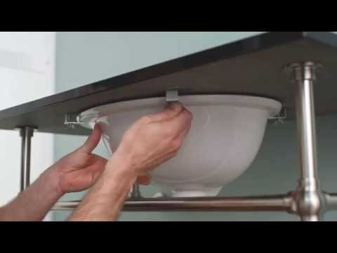 Undermount Bathroom Sink Clips how to install an undermount sink - youtube