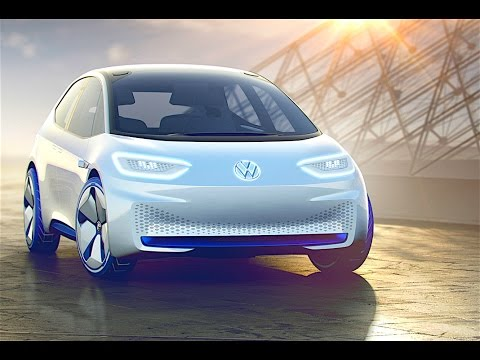 Volkswagen ID Self Driving Electric Car 2017 New VW Autonomous Electric Car Concept Paris CARJAM