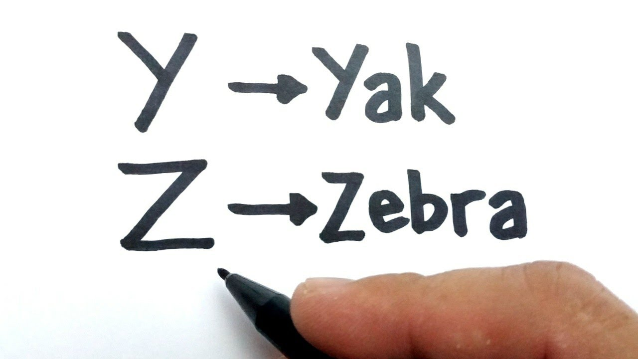 VERY EASY, How to turn letter Y and Z into cartoon animals