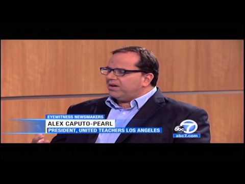 UTLA President Alex Caputo-Pearl talks on ABC7 Eyewitness Newsmakers