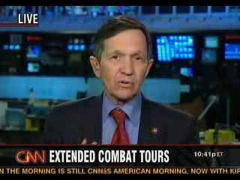 Dennis Kucinich Discusses Iraq War Vote and Funding on CNN