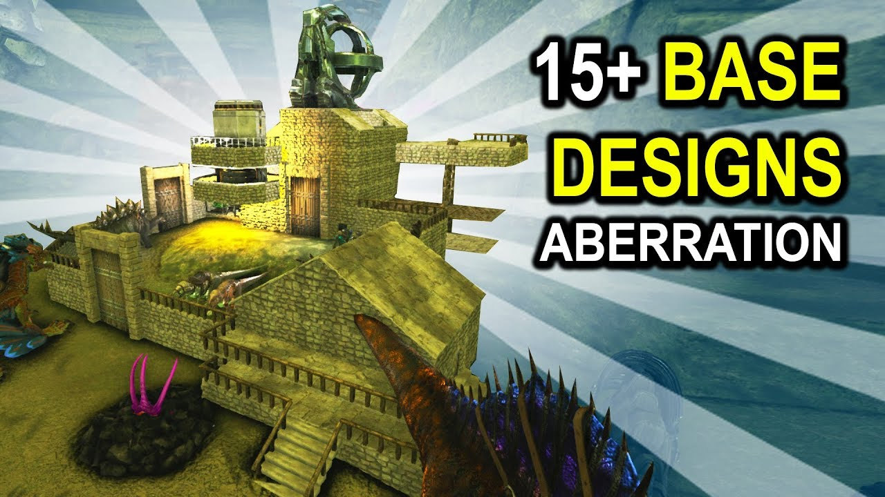 Captivating ARK 15+ BASE DESIGN IDEAS!! Aberration Base Showcases! Ark Survival Evolved  Base Building